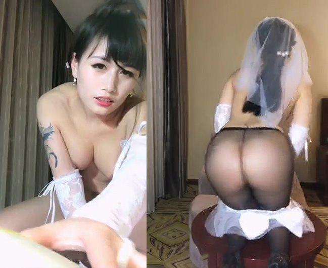 国产主播魅心030酒店白色婚纱编号00095